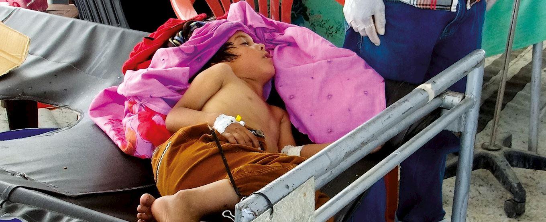 Petit garcon malade Yemen